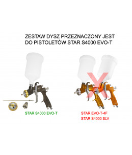 Zestaw dysz STAR EVO-T 1.6mm GOLD 2016