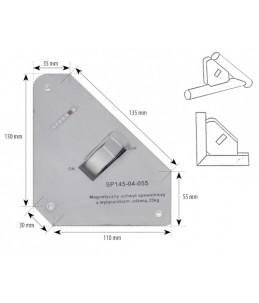Magnetyczny uchwyt spawalniczy z wyłącznikiem udźwig: 25kg