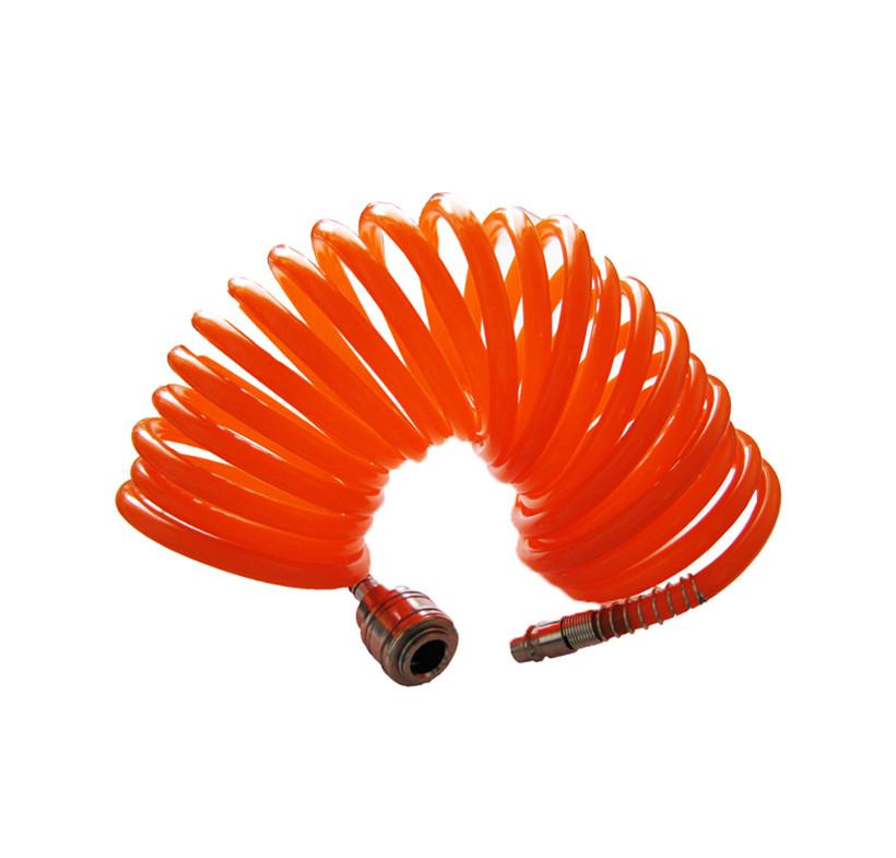 Wąż spiralny przewód pomarańczowy poliamid FC 8x6 mm