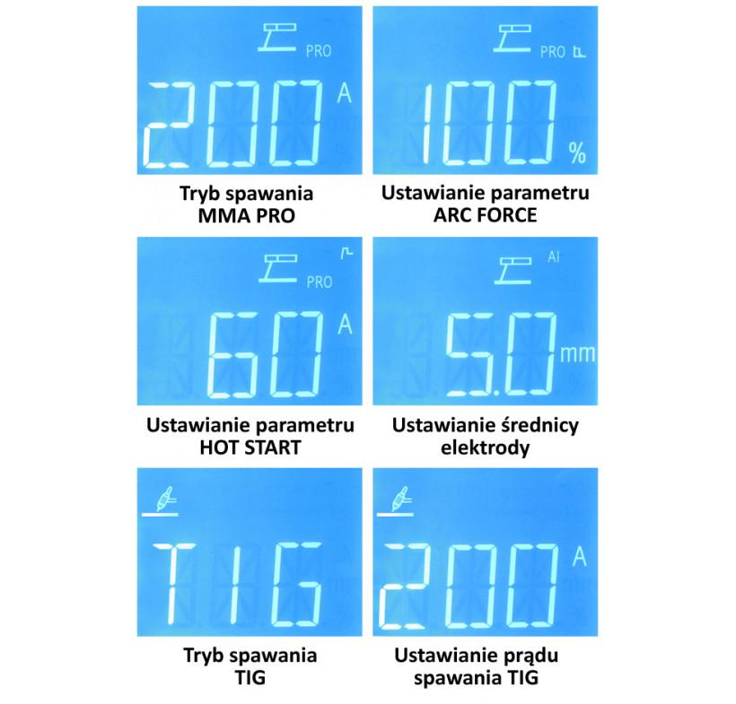 Spawarka ARC MMA inwertorowa DROID MMA 200 Welder Fantasy z opcją TIG LIFT