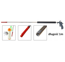 Pistolet do dmuchania oraz czyszczenia wkładów filtrów przemysłowych 1m 'PROFI 40' dysza kątowa