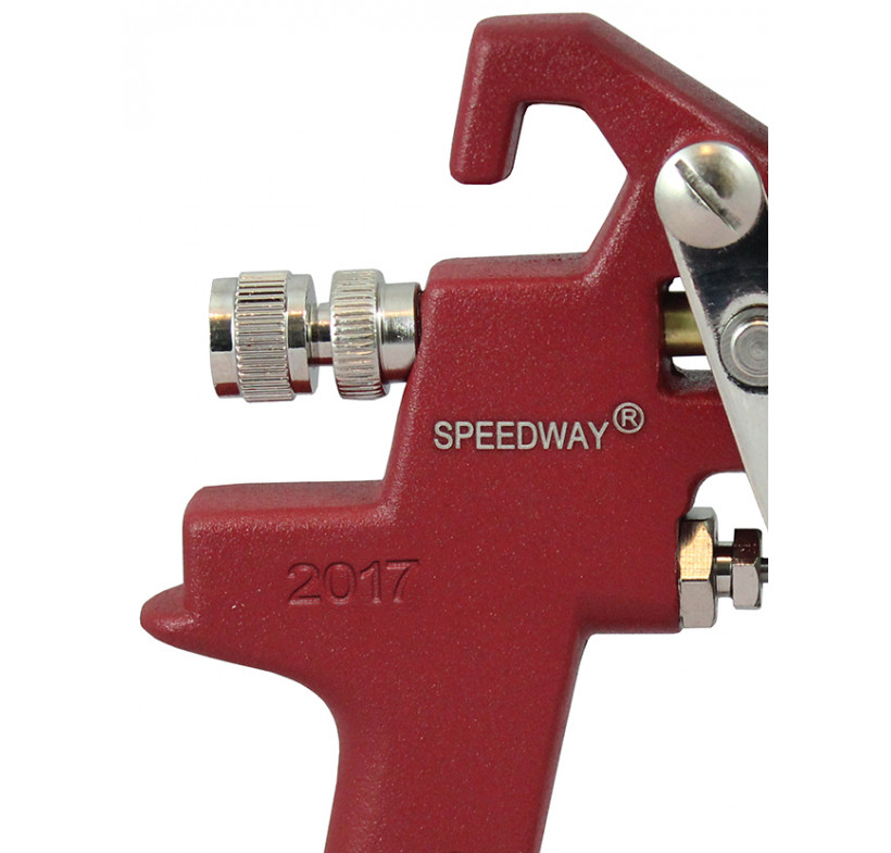 Pistolet lakierniczy SPEEDWAY czerwony HP 1.4mm