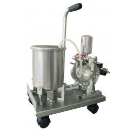 Pneumatyczna pompa membranowa  zbiornik 5L ze stali nierdzewnej