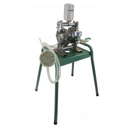 Pneumatyczna pompa membranowa ze stali nierdzewnej stojan.