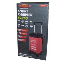 Mikroprocesorowy prostownik do akumulatorów samochodowych z funkcją rozruchu 12V/24V 250A FC-250