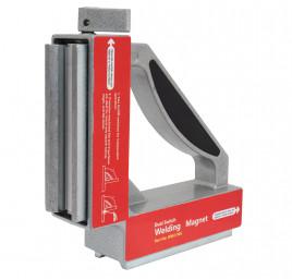 Spawalniczy kątownik magnetyczny z dwoma wyłacznikami