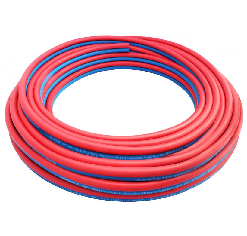 Wąż spawalniczy TWIN tlen 6,3mm - acetylen 9mm EN559 20BAR
