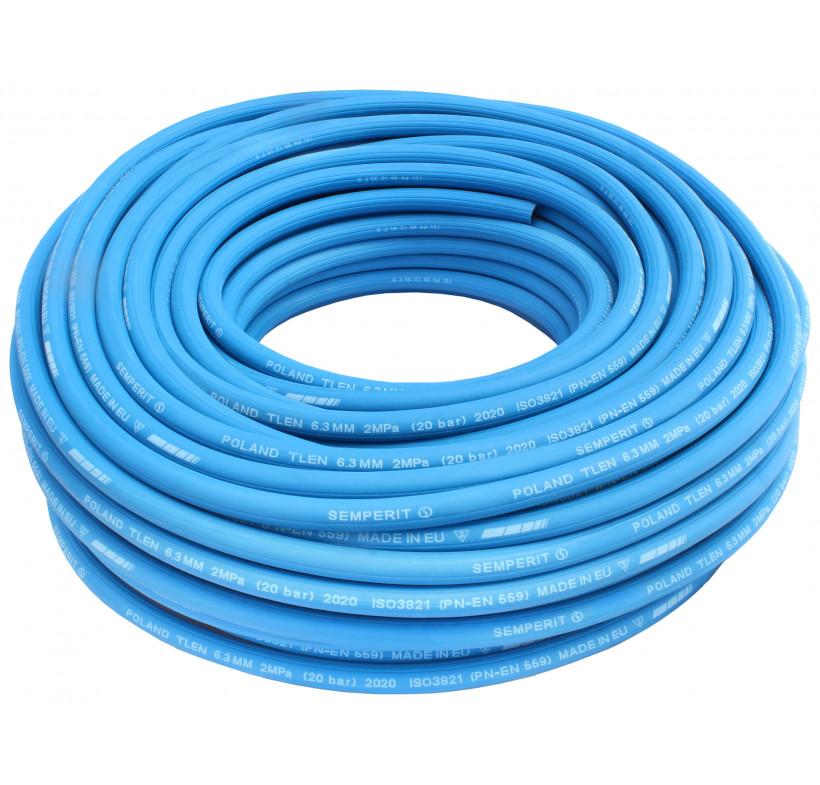 Wąż spawalniczy tlen 6,3mm niebieski