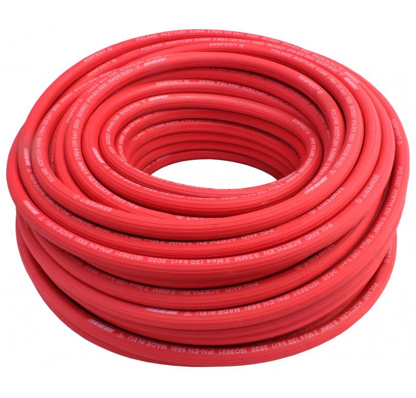 Wąż spawalniczy acetylen 9mm czerwony