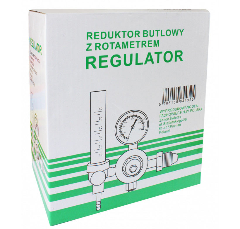 Reduktor butlowy CO2/Argon MINI z rotametrem FACHOWIEC