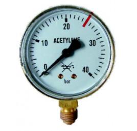 Manometr butlowy acetylen 0-40 bar