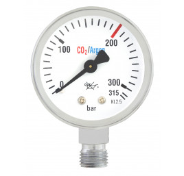 Manometr butlowy CO2/Ar MINI 0-315 bar