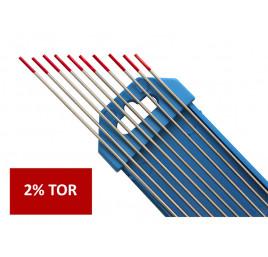 Elektroda nietopliwa TIG WT20 2.0x175mm czerwona