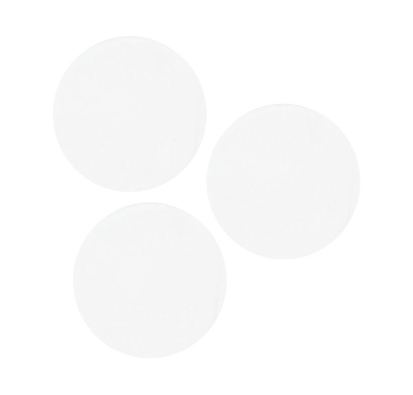Szkło białe okrągłe