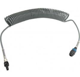 Wąż spiralny przewód PU - poliuretan 12x8mm  15m bezpieczne szybkozłącze