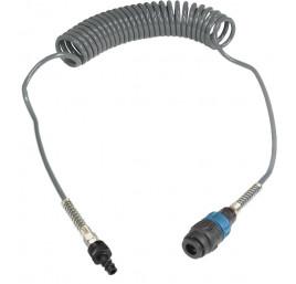 Wąż spiralny przewód PU - poliuretan 8x5mm  10m bezpieczne szybkozłącze