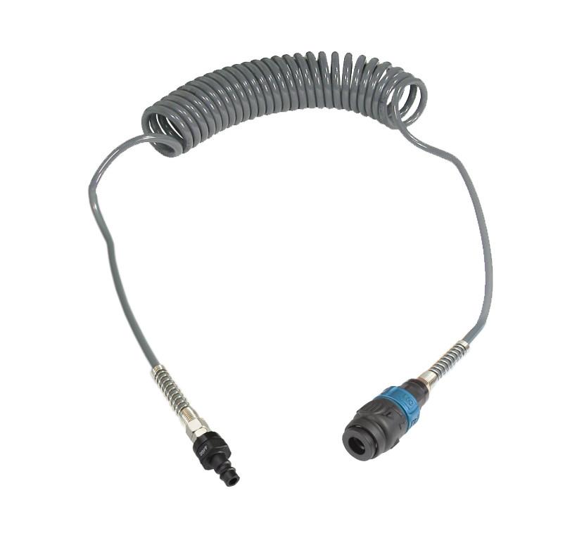 Wąż spiralny przewód PU - poliuretan 8x5mm  15m bezpieczne szybkozłącze
